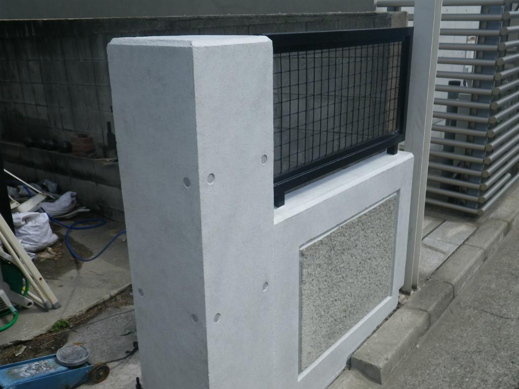 コンクリートフェンスの補修
