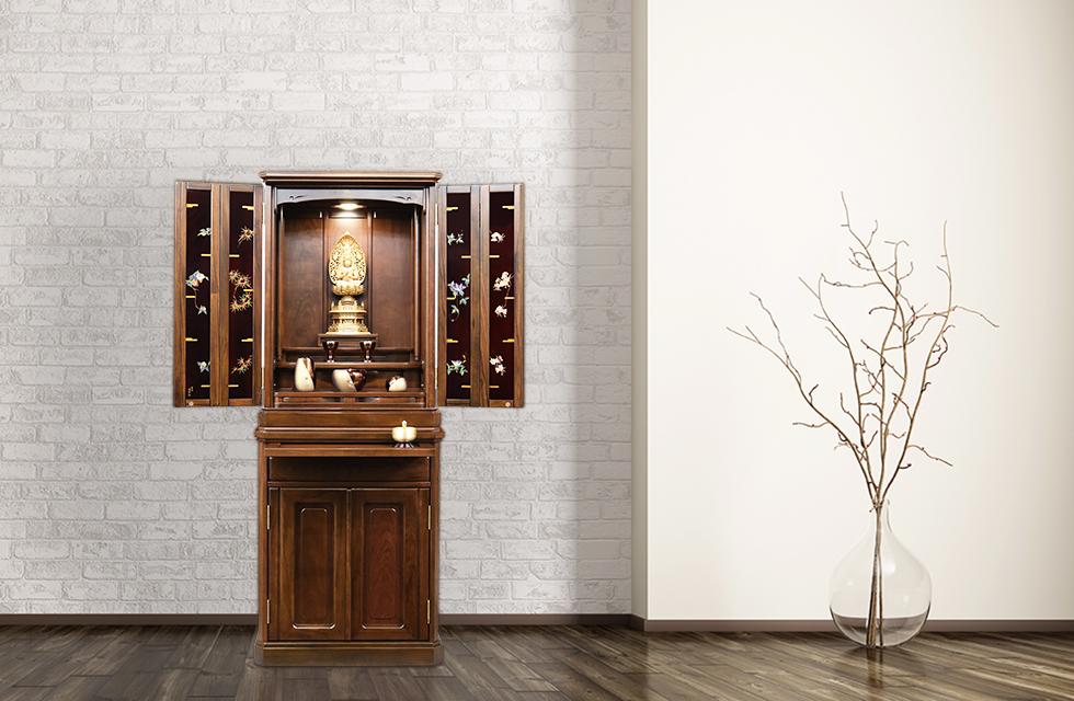 最高級モダン仏壇TAKUMI「ウォールナット&輪島塗」イメージ
