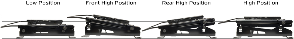 新型ジムニーシエラJB74用 シートレール 底止め式