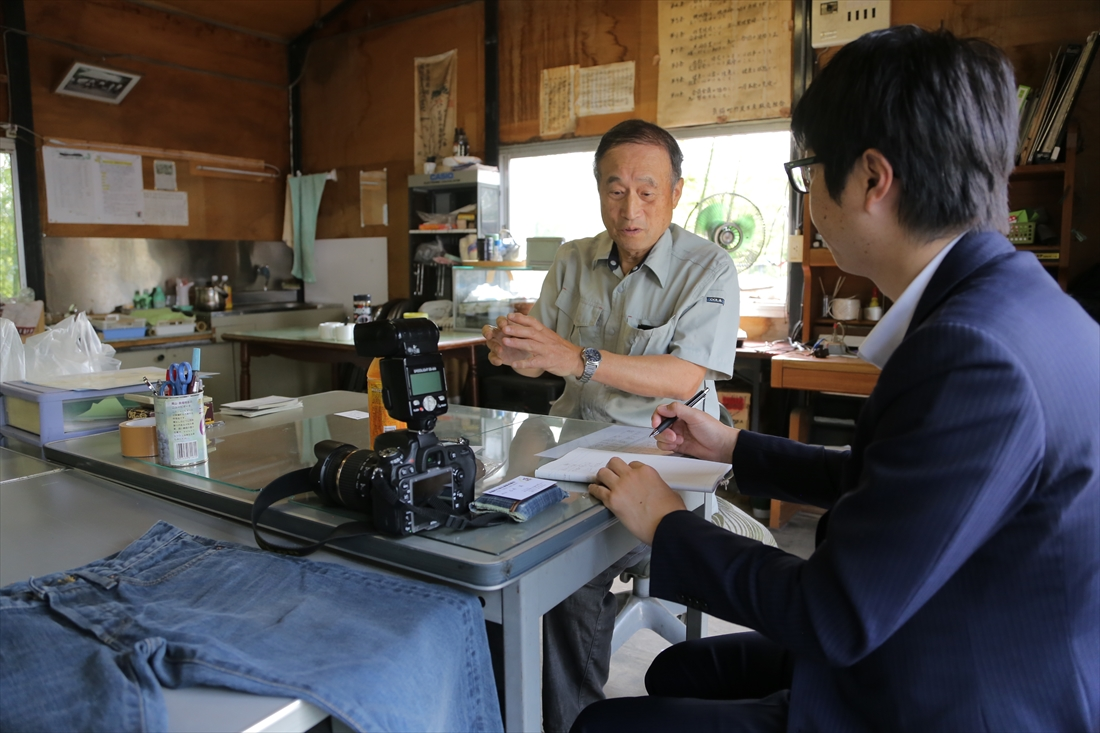 真備の竹炭生産組合の会長