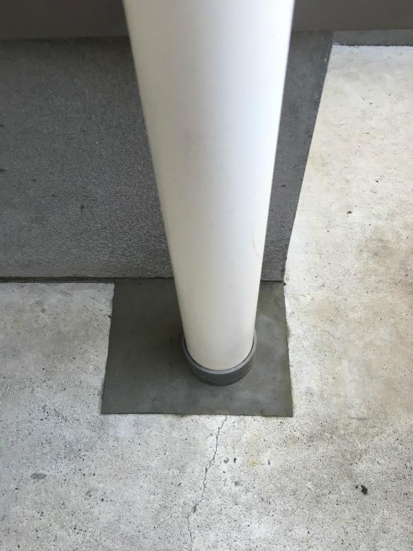 カーポートのコンクリート補修