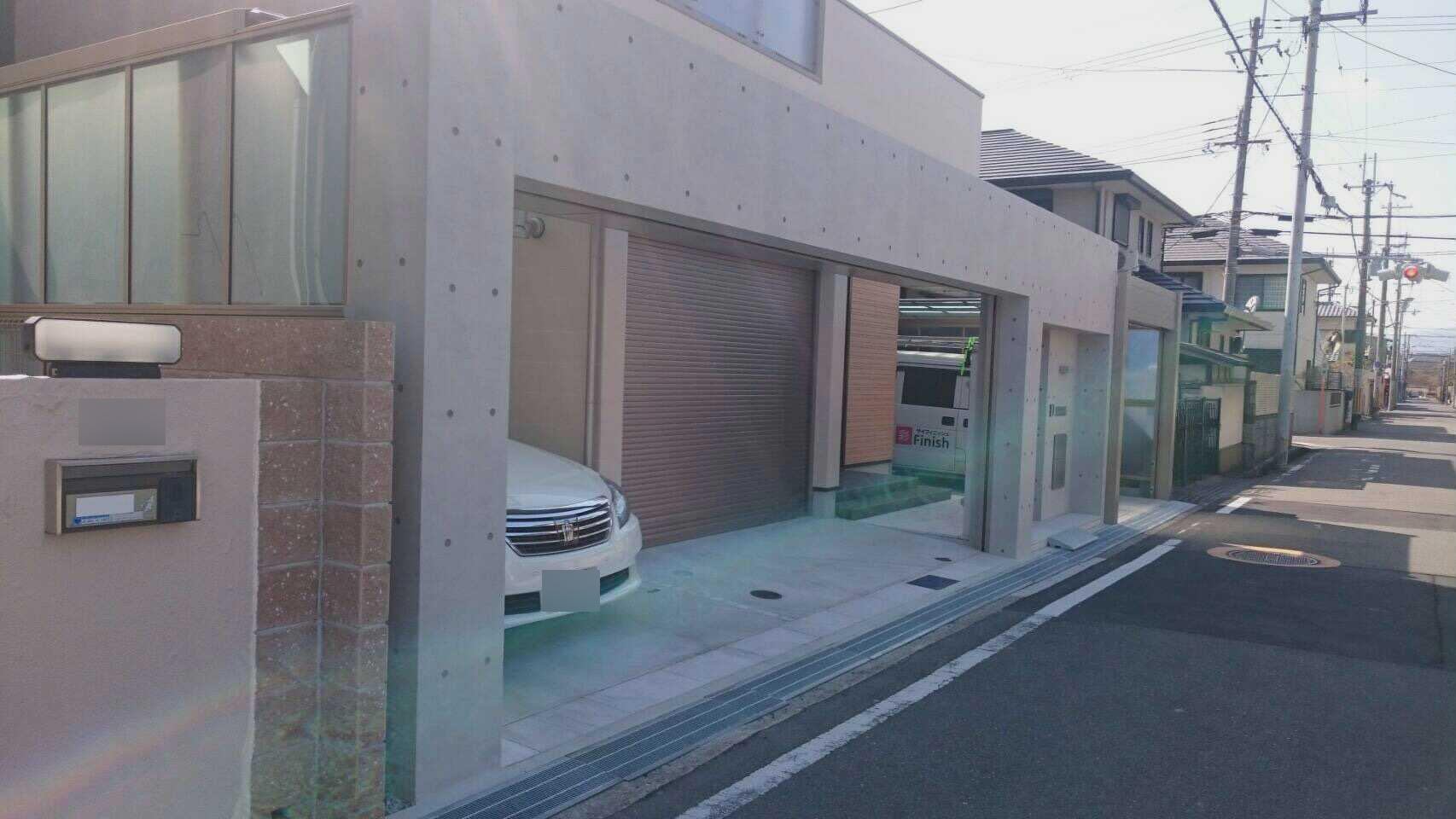 打ち放しコンクリート再生工事 兵庫県尼崎市