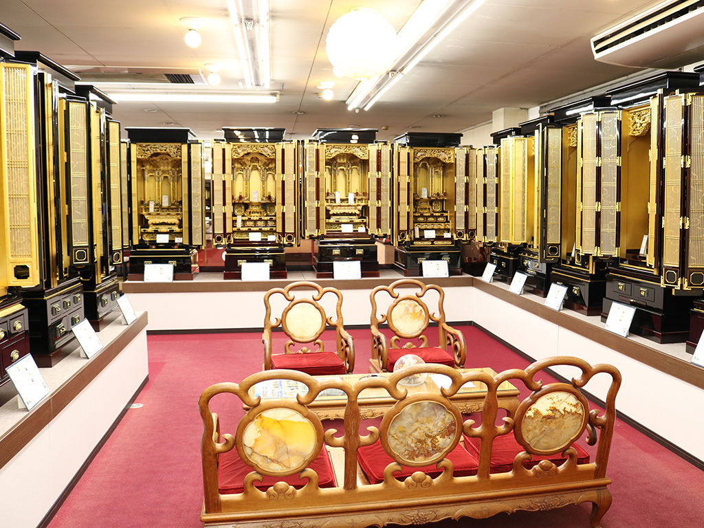 仏壇のシメノ堺鳳店純金塗仏壇