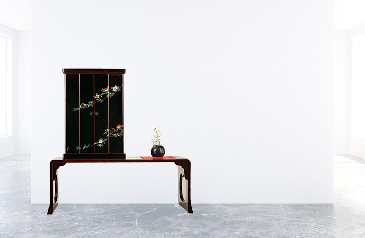 輪島塗最高技法仕上げ上置き型モダン仏壇イメージ写真