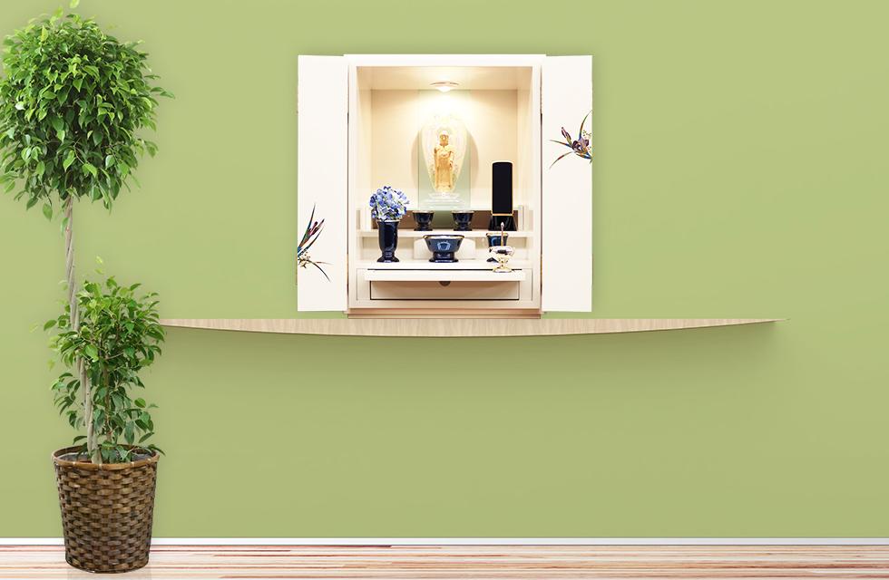 モダン仏壇「菖蒲」上置型イメージ写真