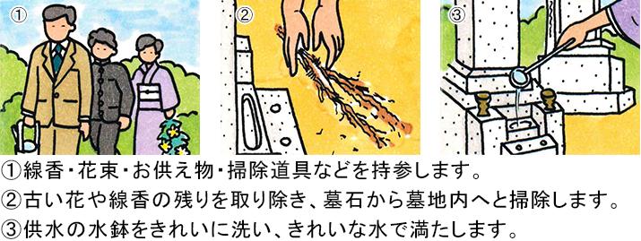 お墓参りイラスト-1
