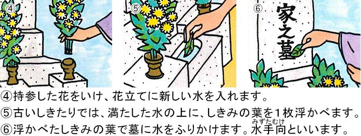 お墓参りイラスト-2