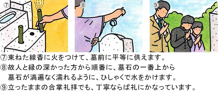 お墓参りイラスト-3